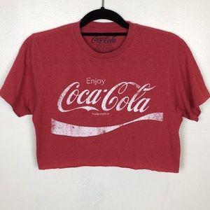 Tops - Coca-Cola  Red Graphic Crop Tee Shirt
